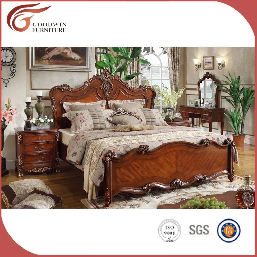 Alibaba wood italian classic bedroom set A48
