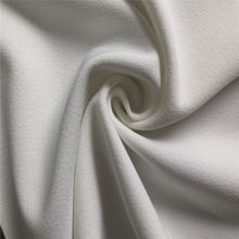 100% polyester good elastic crepe effect solid interlock fabric