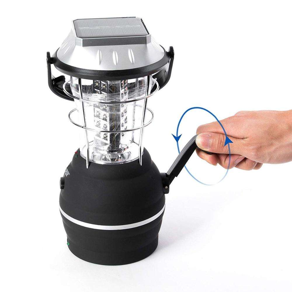 NB GOLDMORE 36 LED Solar Light 5 Mode Hand Crank Camping Lantern Multifunction Rechargeable Outdoor LampためCamping Hiking