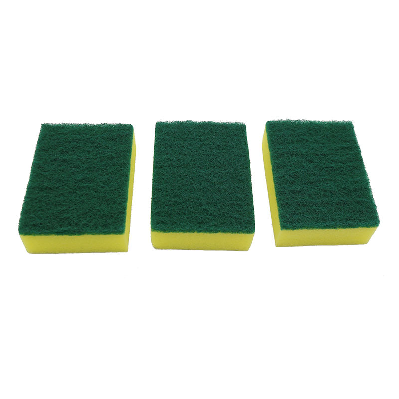Polyurethane foam scrub abrasive scouring pad cleaning kitchen sponge for dish