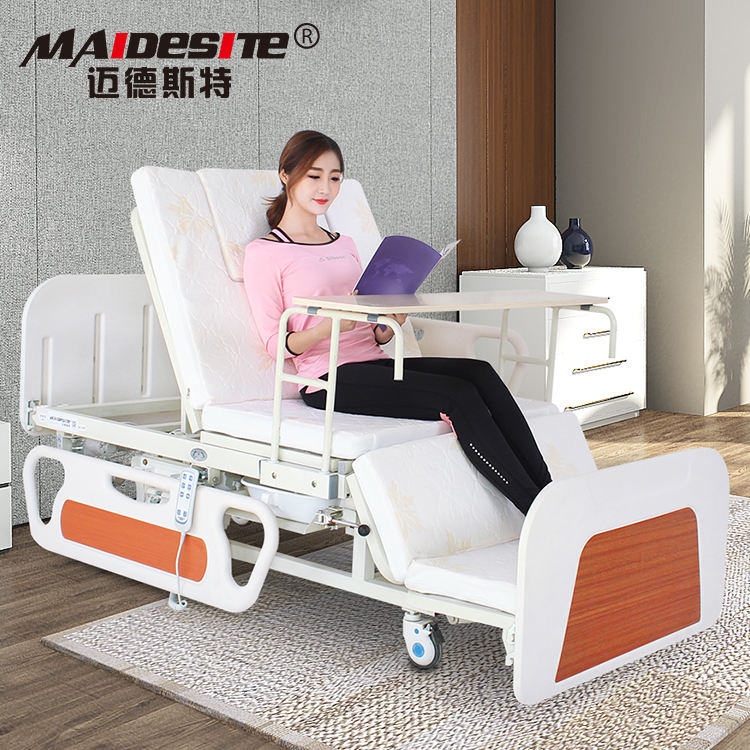 Automatic electric medical patient bed for home use