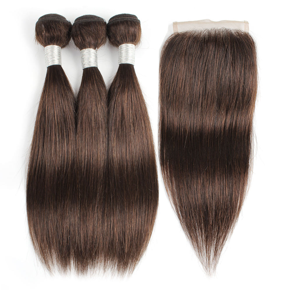 Best Quality Hair From Xuchang Kiss Hair 50g Color 2# Silky Straight Raw Virgin 100% Human Hair