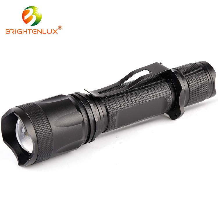 2017 Cheap high powerful 10w led usb electric aluminum rechargeable torch tactical flashlight