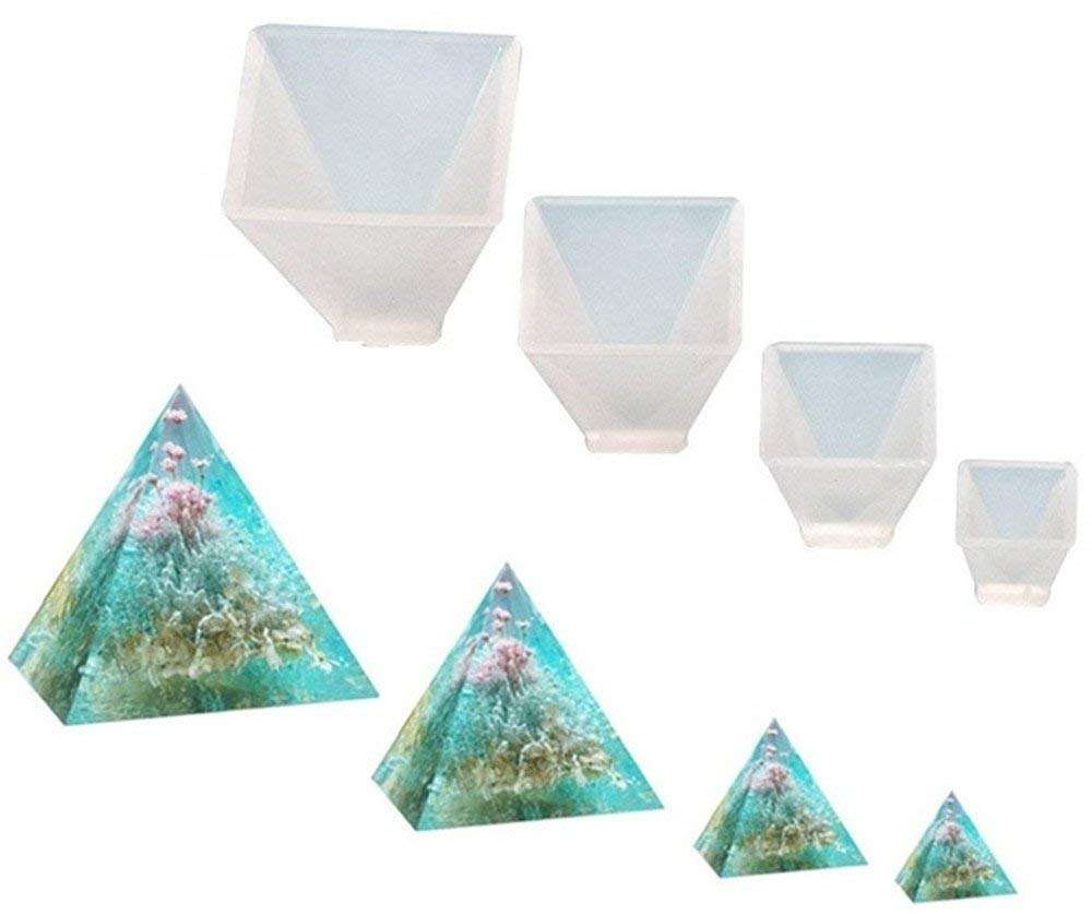 Pyramid Jewelry Casting Molds Silicone Resin Jewelry Molds for DIY Jewelry Craft Making, The Multi-Faceted Silicone Mold