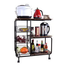 mobile rolling wire kitchen cart trolley island