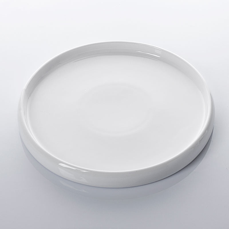 Free Sample Durable Restaurants Small Ceramic Plate, Restaurant Food Plate, Round Short Side Plate/