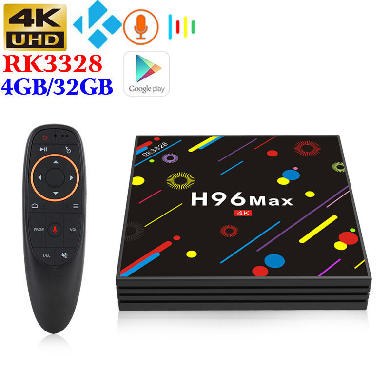 Regalo di natale RK3328 4g/32g Android smart tv box costruito in 2 .. 4g + 5g dual WIFI Airplay 4 k lettore multimediale iptv streaming box H96