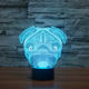 Creative shar pei dog 3D table lamp of acrylic led night light for kids room deco FS-3238