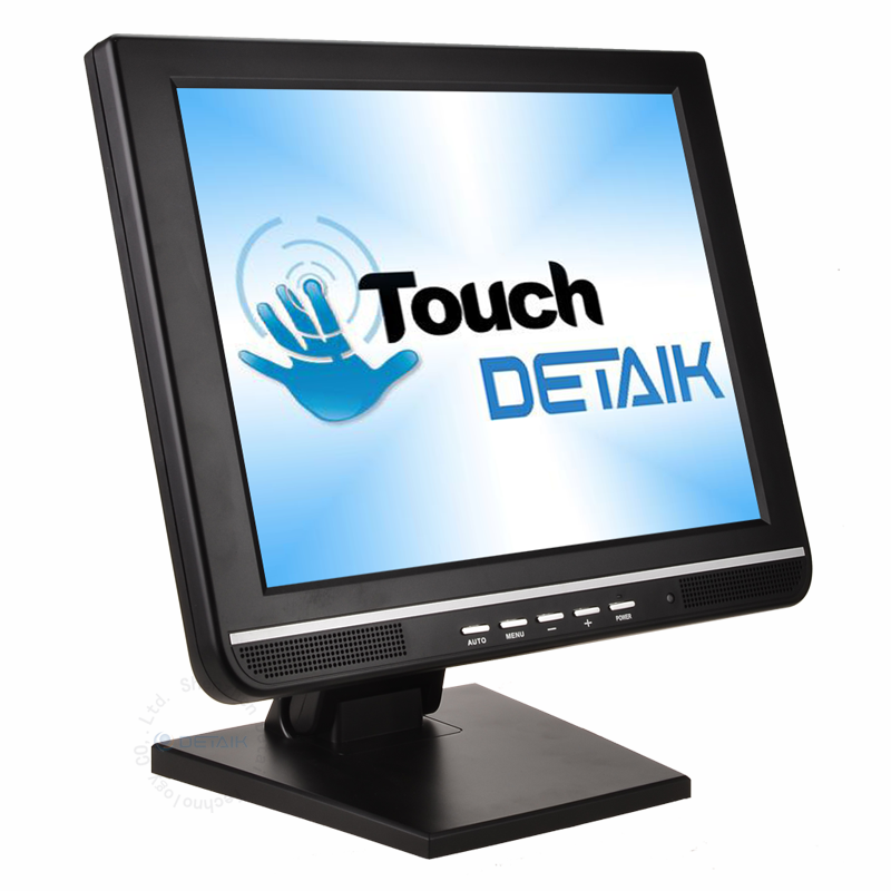 Detaik OEM 15 Inch LED Touch Pos Monitor Cheap Square 15inch TFT LCD Touch Screen Monitor