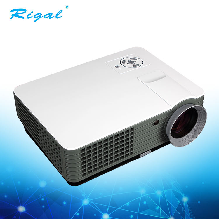 Miniature portable multi purpose projector with compatible smartphone and computer