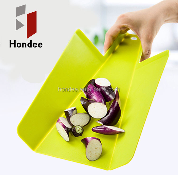 Food Grade Lowest Price Flexible Colorful Chopping Board Plastic Folding Cutting Board