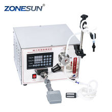ZONESUN Electric High accuracy Small Dose 1-5000ml single nozzle liquid Smoking Oil filling machine supply