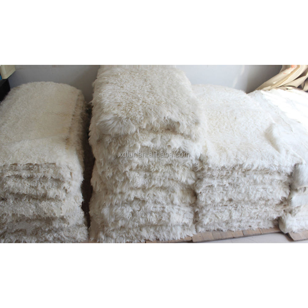 long hair goat fur rugs