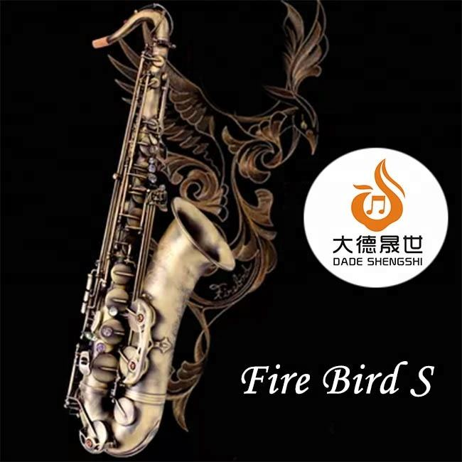 <span class=keywords><strong>Professionele</strong></span> Fire Bird Serie DSTS-711FB Totaal Sax Graveren Pro Saxofoon <span class=keywords><strong>Tenor</strong></span>