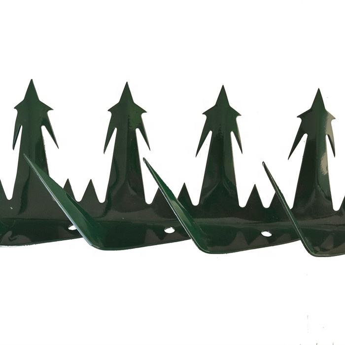 Powder Coated Big Wall Razor Spikes For House Yard Security