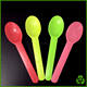 Hight quality colorful 6 inch PS disposable soup spoon plastic ice cream spoon