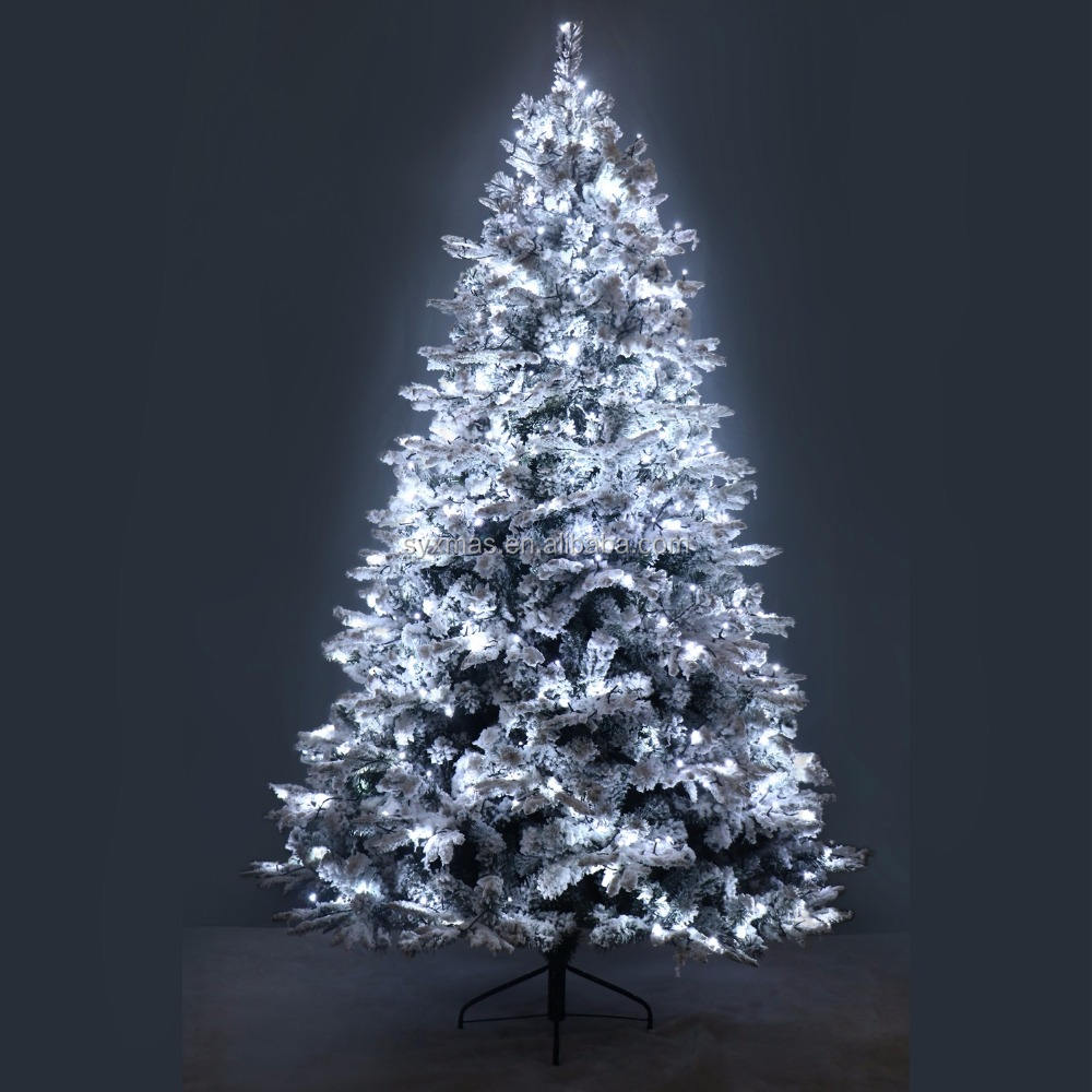 Quality Led Tree Luxury 210cm Mixed Leaf Christmas Decorative Tree With Warm White LED Lights