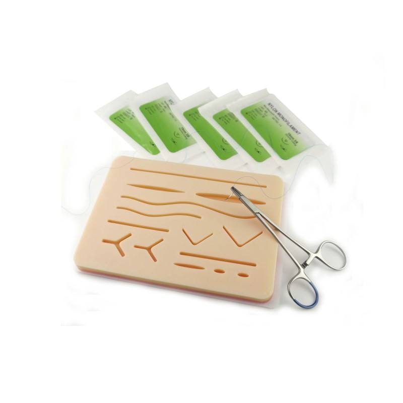 3 layer surgical practice suture training pad, suturing pad for open surgery, medical students suture practice kit