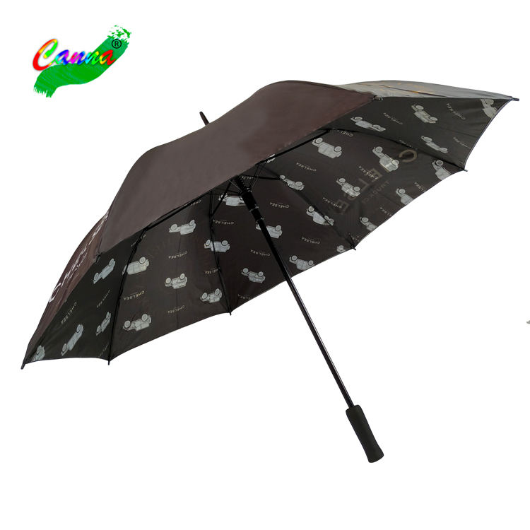 two layer regular golf 3D photography umbrella