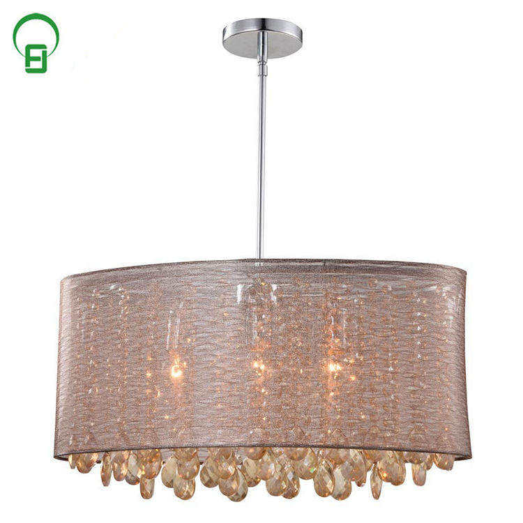Hot selling moderne fancy koffie hotel crystal hanglamp voor home decor