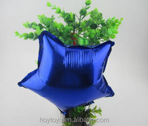 China yiwu 18 inch stern blau metallic mylar ballon
