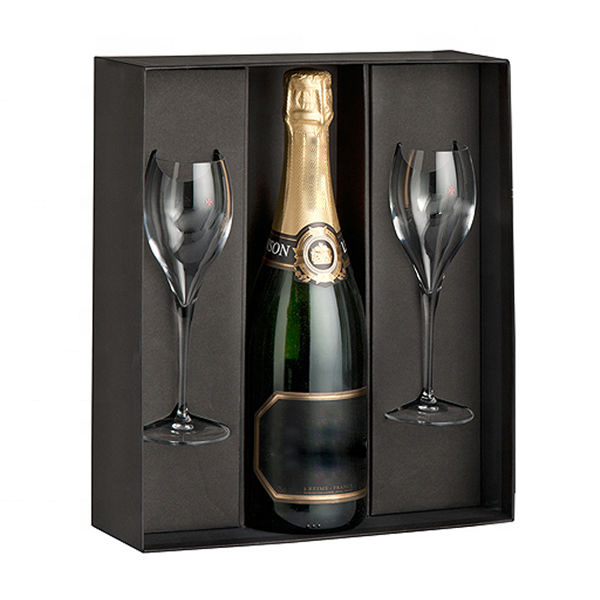 Luxury Wine Glasses and Champagne Packaging Gift Box with Gold Stamping Logo packing box
