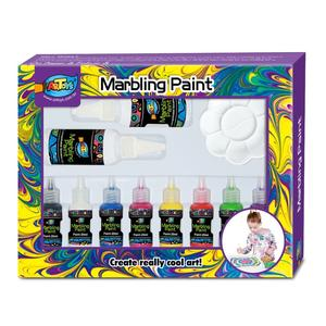 Kids Paint Brush Kit Floating Painting Marbling Ink 8 color 20ml marbling Paint Set Extension Wet Painting Watercolor Drawing
