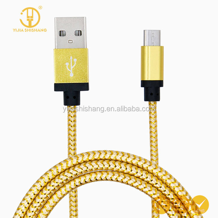 Braided nylon colorful USB Data Sync Charger Cable Cord for iPhone 5 6 7