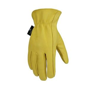 OEM Yellow men Labor protection Lumberjack Sheepskin leather working glove