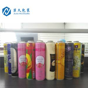 Free sample custom printing blank refillable empty aerosol aerosol spray can refill