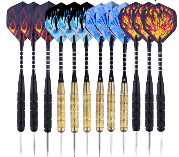 Cheap 12pcs Brass iron Dart Set With High Quality, Steel Tip Darts