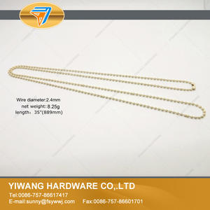 Grosir Hot sale Logam Bola Rantai Kalung Warna Bead Chains