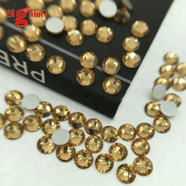 High quality Apparel Strass Korean DMC Stone non Hotfix Crystal Flat Back Rhinestone