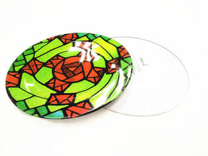 High quality round metal tin tray
