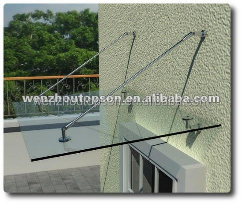 Stainless Steel Glass Door Canopy Kit