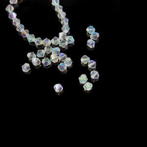 "Chino Cristal Bicones 8 mm negro azabache perlas de vidrio filamento de 12/"" C96//9"