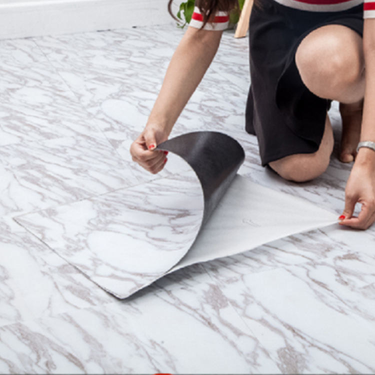DIY Self adhesive stick floor tiles vinyl plank flooring