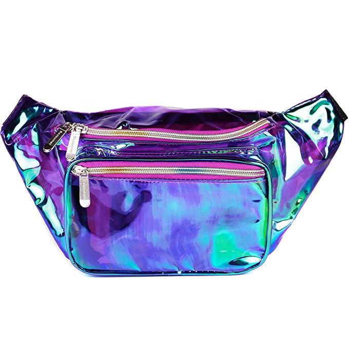 Logo reflective runner dry blank mobile salon makeup brush engineer tool transparent streetwear oem large waist bag for waiter