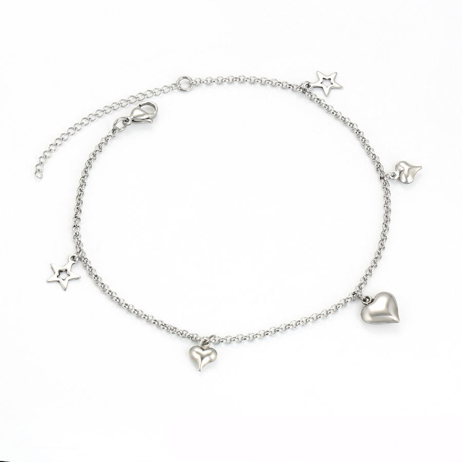 75824 XUPING New design fashion women stainless steel anklet heart foot chain jewelry fancy anklet bracelet feet jewelry anklet
