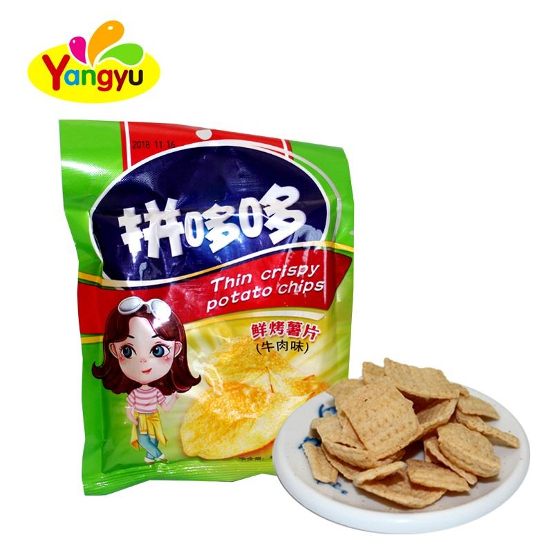 Chinese Fried Snacks Style Beef Flavor Potato <span class=keywords><strong>Chips</strong></span>