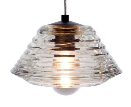 Pressed Glass Light Bowl Pendant Light