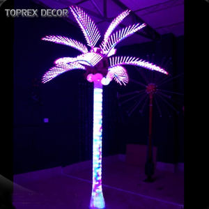 TOPREX DECOR project 야외 파크 (ocean park) IP65 96에 조명 LED Palm Tree 와 코코넛