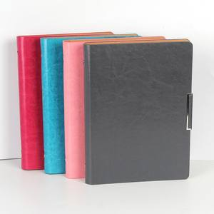 Free sample functional leather journal book/leather note book/leather filofax and custom size