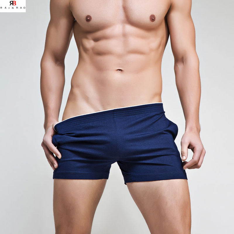 Wholesale plus size custom mens underwear cotton woven boxer shorts