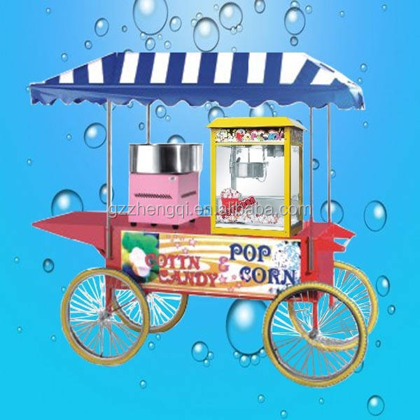 Hot Sale Cotton Candy Machine And Popcorn Machine Food Cart Price