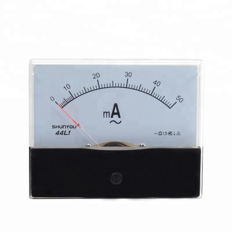 44L1 50mA Rectangle Dial Panel Gauge Current Tester AC 0-50mA Class 2.5 Accuracy