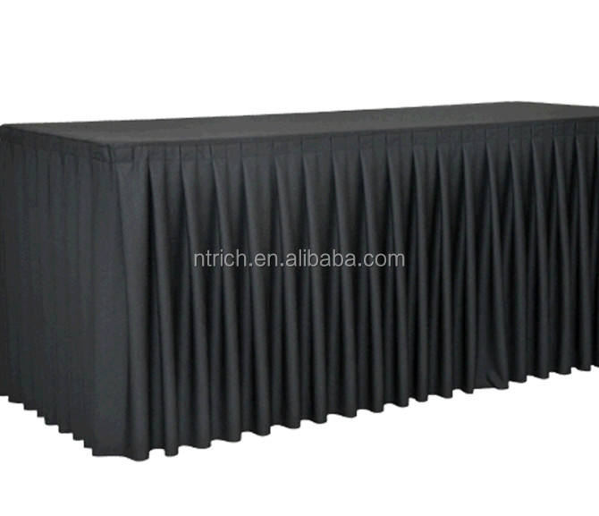 new styles banquet pleated table skirts