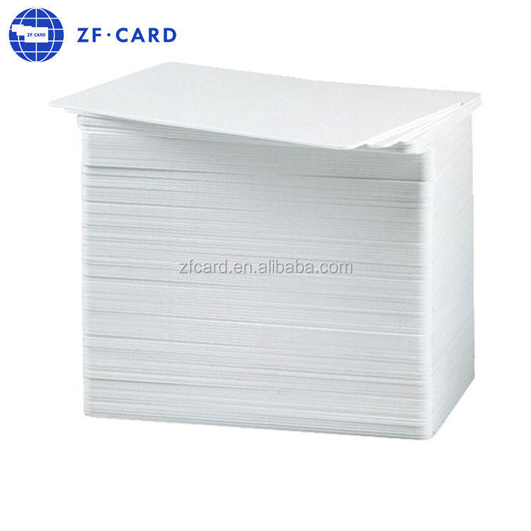 plastic PVC white blank card with chip 13.56mhz F08