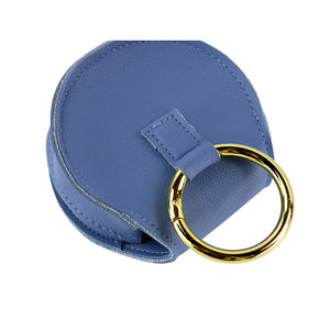 Cute Wallets Pocket Small Classic Custom Logo Solid Color Lovely Lady Pu Leather Round Coin Purse Keychain