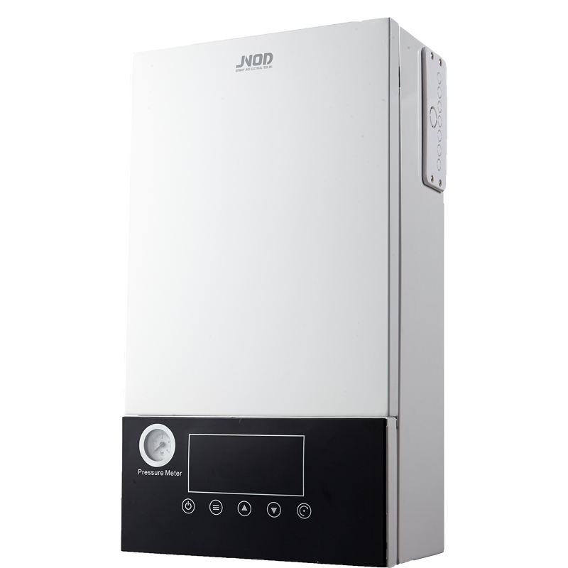 Electric combi boiler for central heating and hot water shower